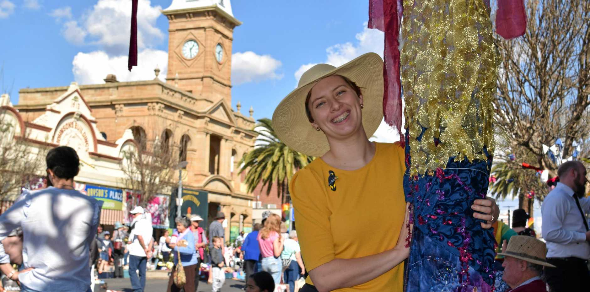 Former Warwick woman Brearne Barnes has created a special jumper for this year's festival.