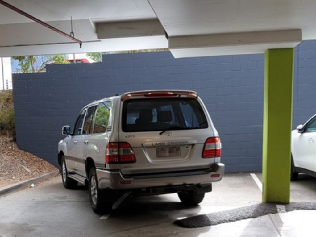 Bad parking at Greenslopes Mall. Picture: Facebook