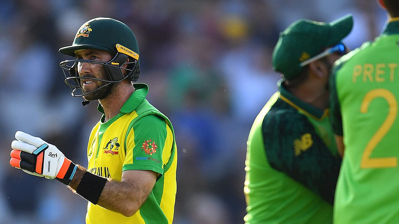 Glenn Maxwell threw his wicket away with top spot on the line. Picture: Getty