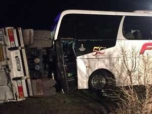 Bus driver dies in horror truck crash