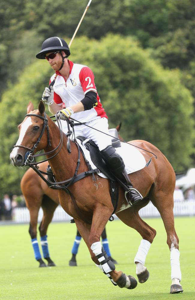 Prince Harry, Duke of Sussex competes during King Power Royal Charity Polo Day. Picture: Chris Jackson/Getty Images for The King Power Royal Charity Polo.