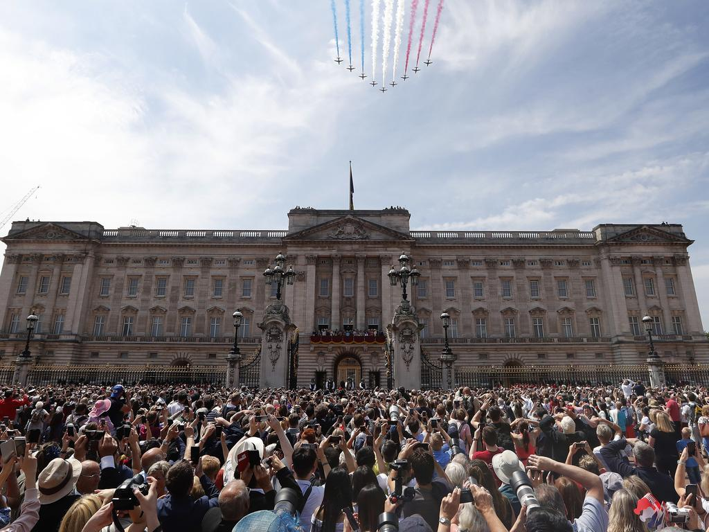 The intruder jumped over a Buckingham Palace wall and roamed around. Picture: AP