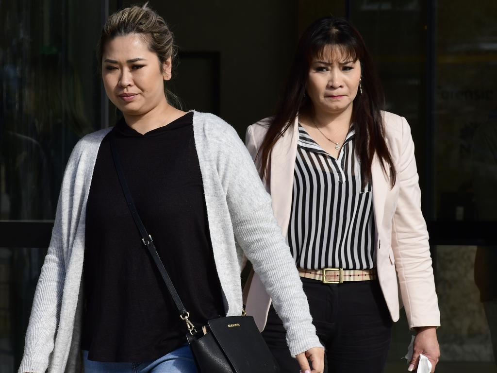 Nathan Tran's family members at the inquest. Picture: AAP/Bianca De Marchi