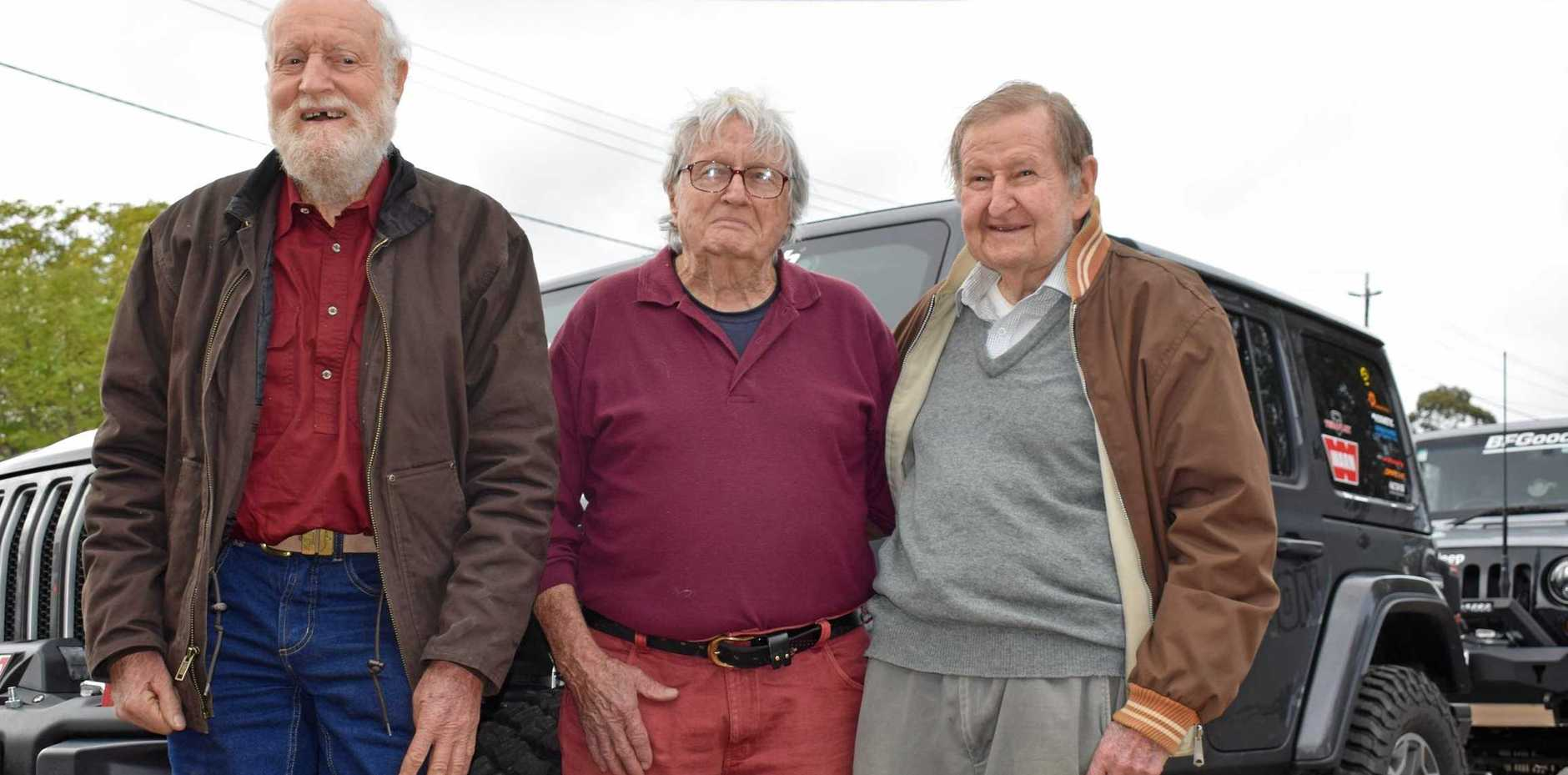 First east to west crossing members John Eggleston, Ian McDonald and Malcolm Wilson reunited for the 50th anniversary trip.