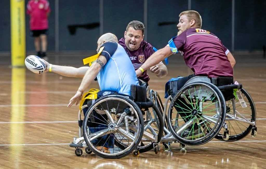 The competitors display their tenacity playing wheelchair NRL. Queensland players like Ipswich-based Matt Collins are helping build awareness of the sport's benefits.