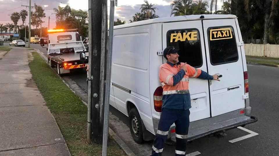The van labelled