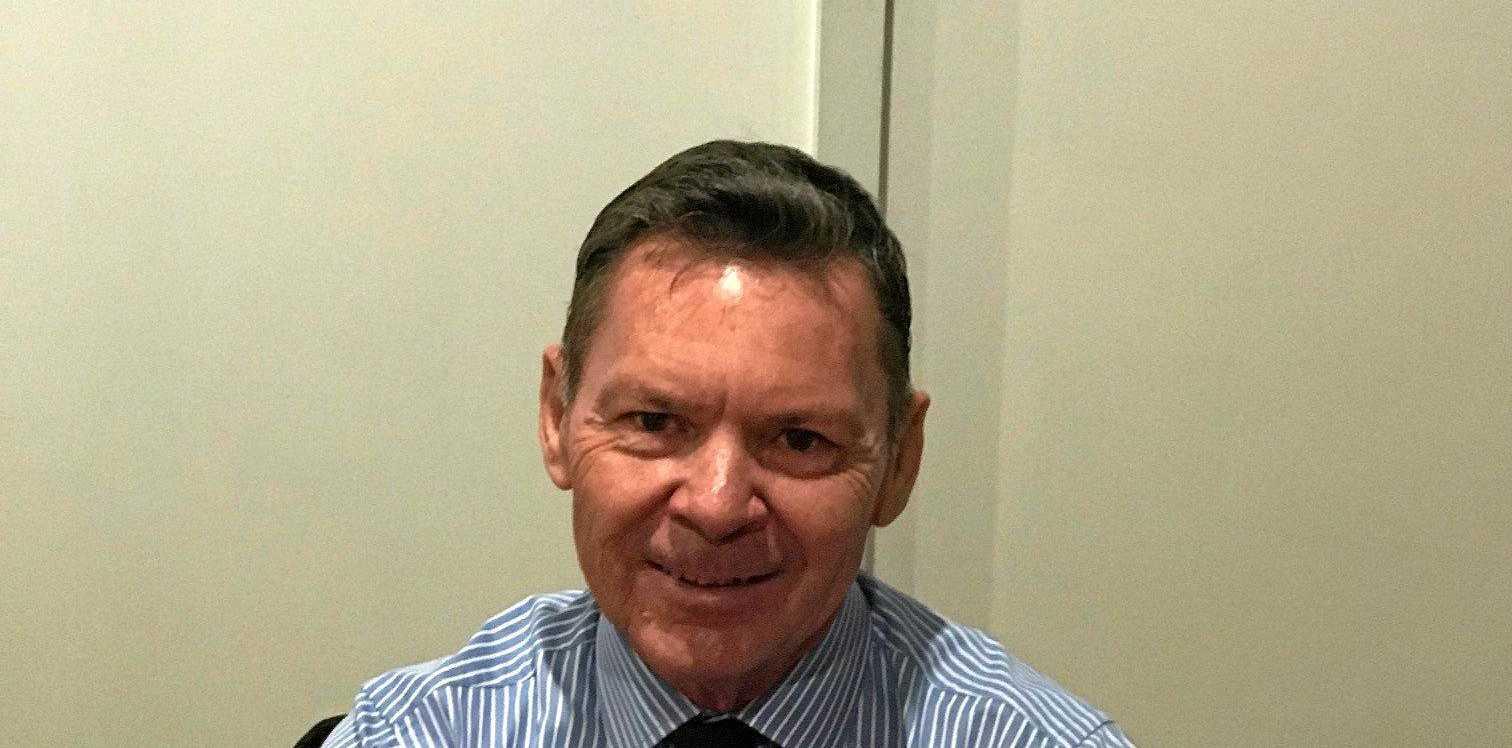 Outgoing chief steward Neville Laskey.