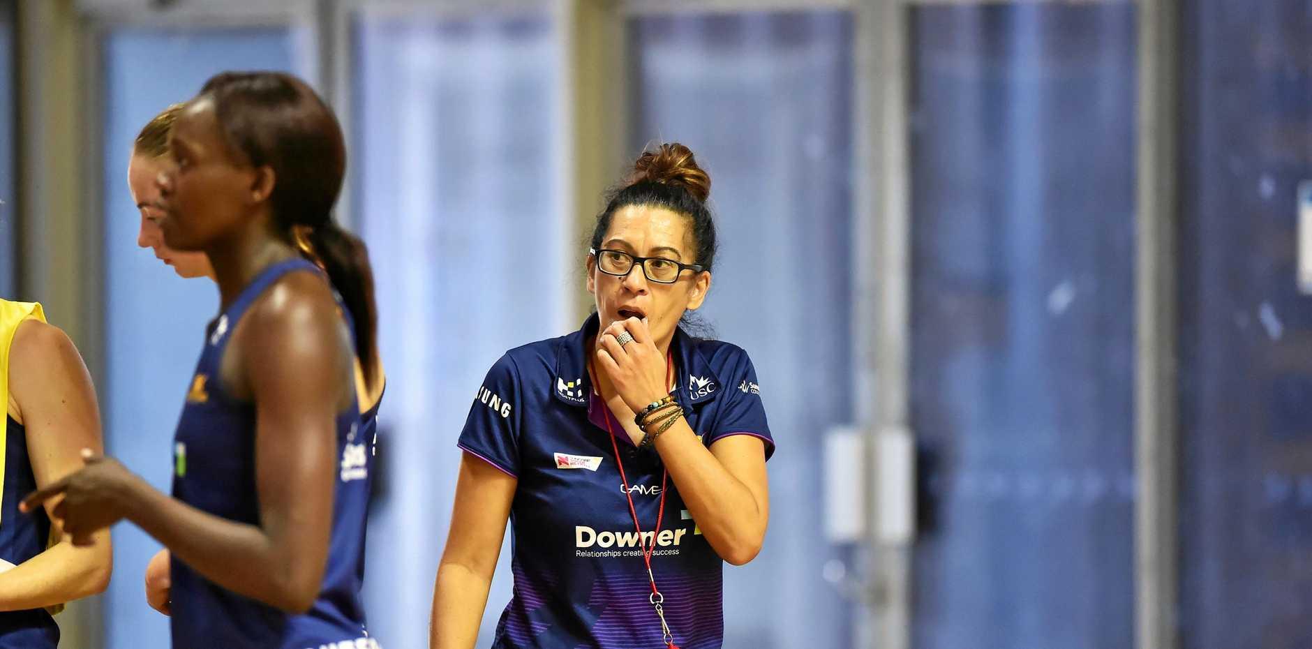 NETBALL: New Zealand and Sunshine Coast Lightning coach Noeline Taurua (right).