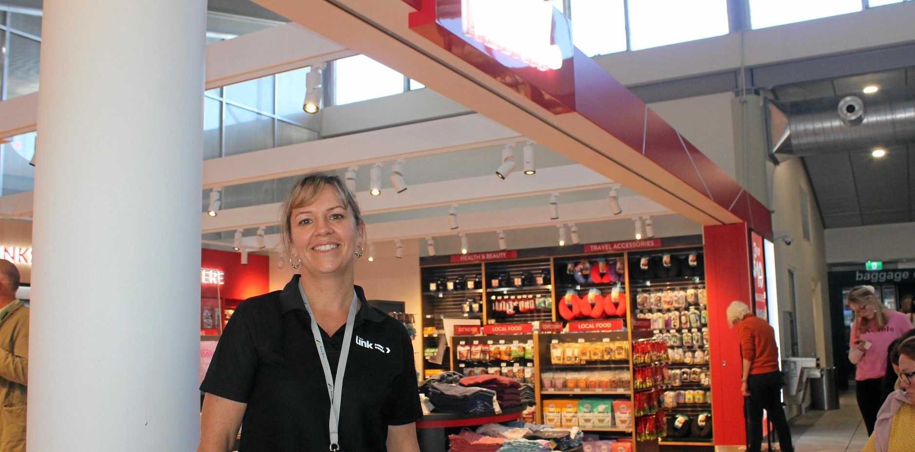 NEW LOOK: The inclusaion of the Relay shop at Ballina Byron Gateway Airport is part of the new look to the departure lounge. Pictured is the store's team leader, Jilene Tory.
