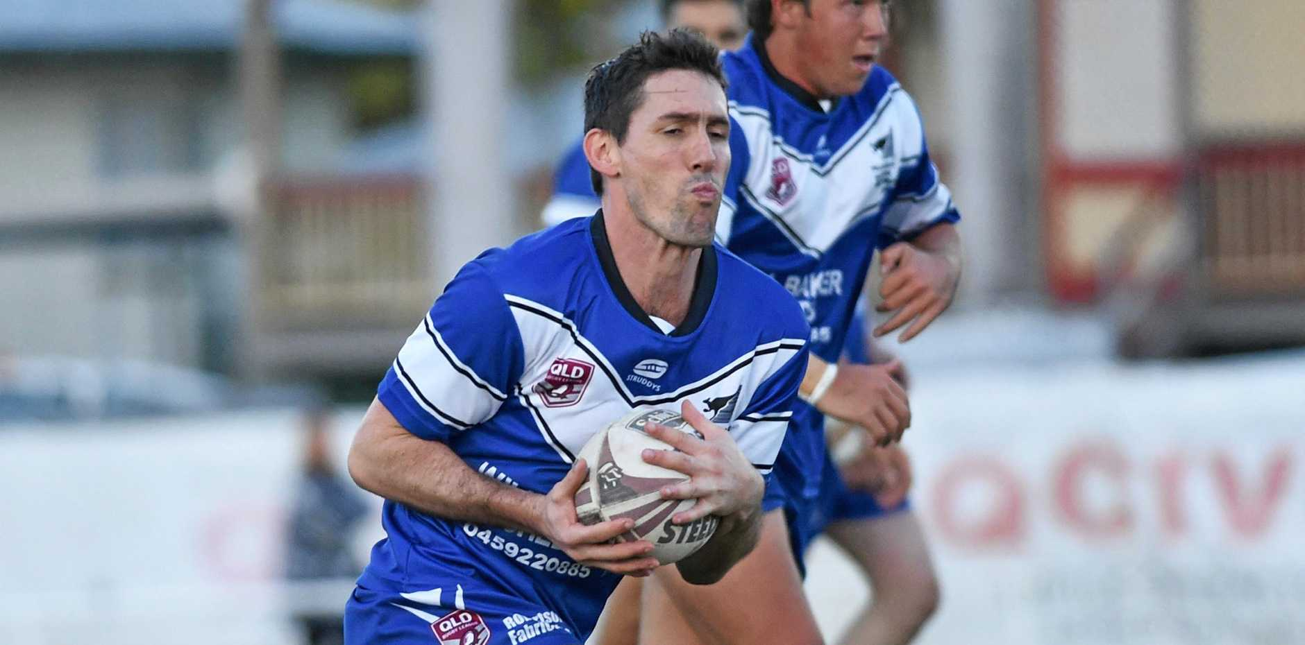 OFF AND RUNNING: Maryborough Wallaroos player Daniel Beattie in the match against the Hervey Bay Seagulls last week.