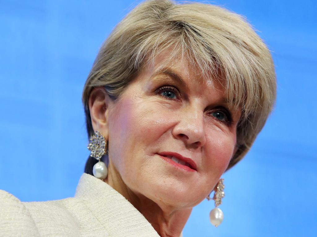 Former Foreign Minister Julie Bishop has dodged questions on Australia's press freedom. Picture Kym Smith