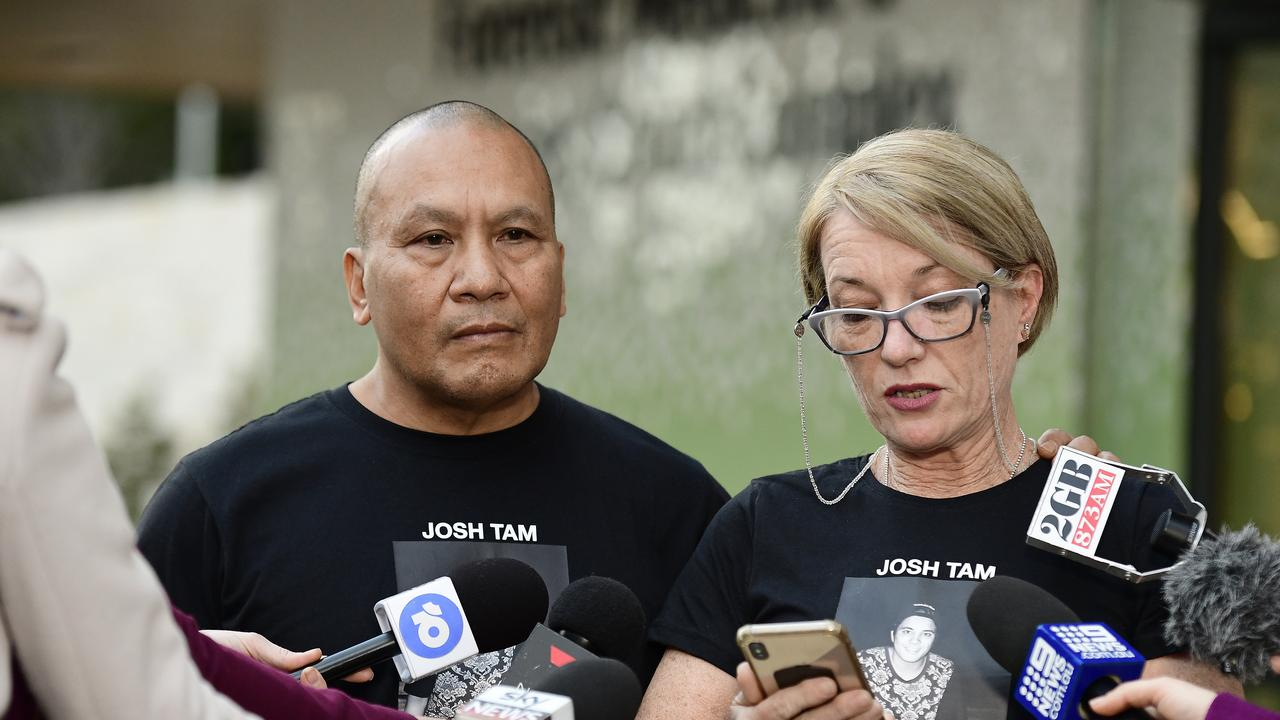John (left) and Julie Tam, parents of Joshua Tam. Picture: Bianca De Marchi