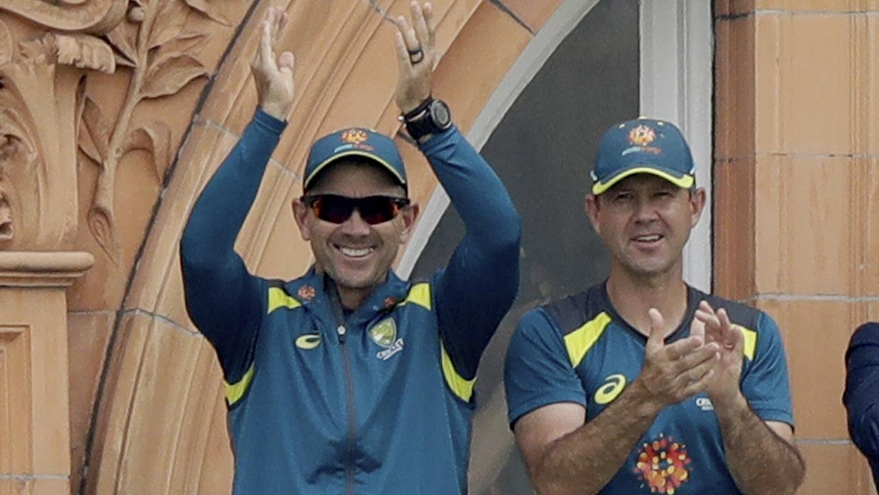 Ricky Ponting (R) is expected to help Justin Langer and selectors pick the squad. Picture: AP