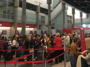 Mass airport chaos as scores of flights cancelled