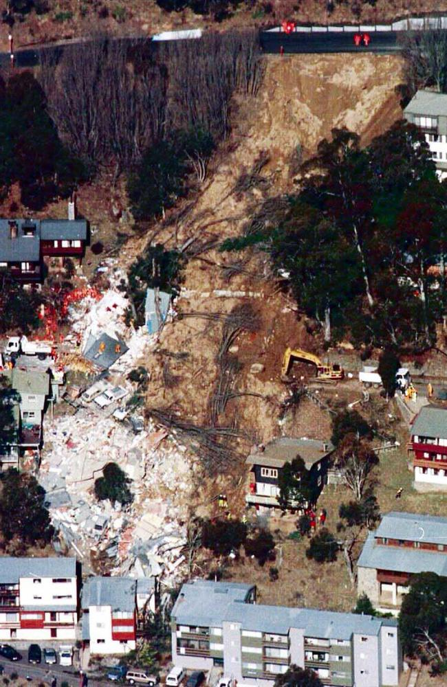 An aerial view of the devastation.
