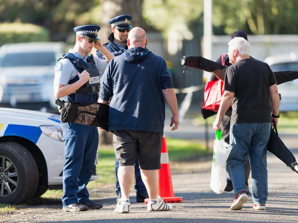 Gun owners began handing in their firearms at Riccarton Racecourse this morning, providing firearms owners the initial opportunity of many to hand-in prohibited firearms for buyback and amnesty. Picture: Kai Schwoerer/Getty Images
