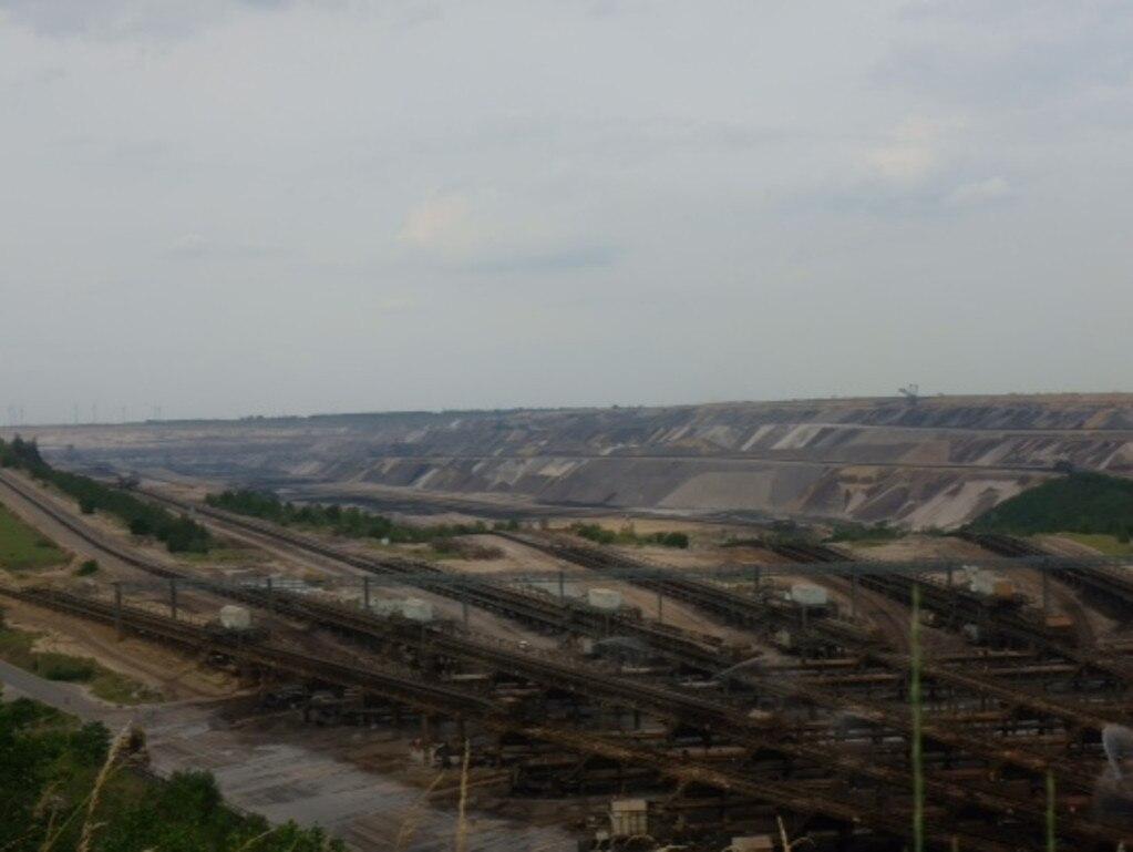 German lignite mine near village of Keyenberg.