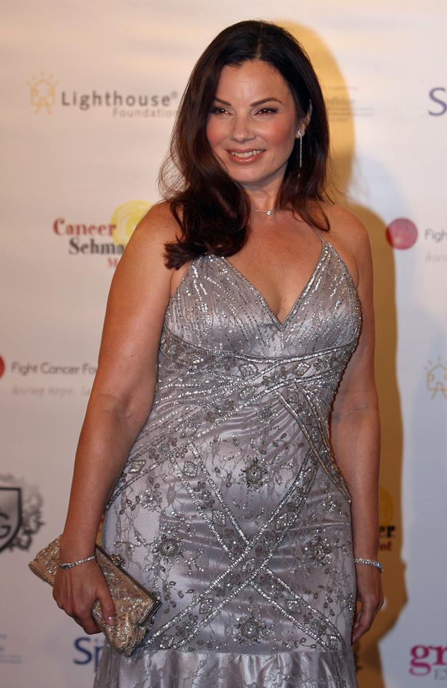 Fran Drescher making her red-carpet arrival at the wedding. Picture: Supplied.