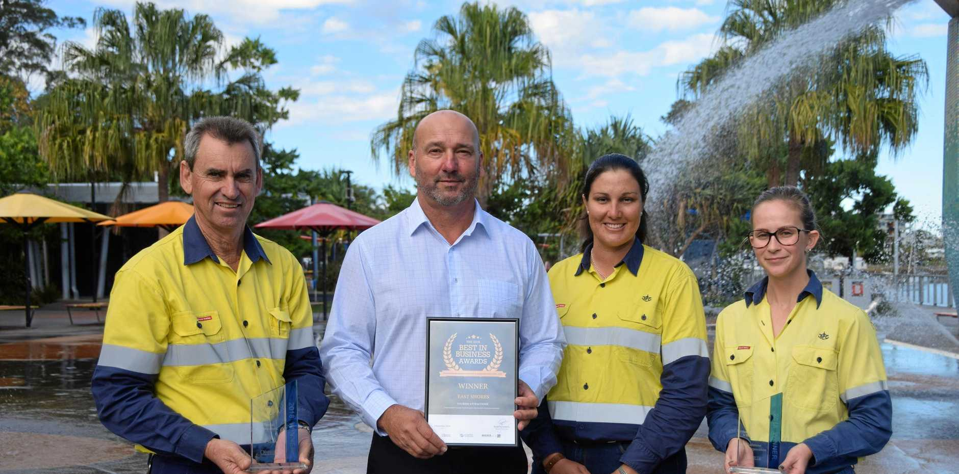 RECOGNITION: Gladstone Ports Corporation employees Graham Gambie,   Craig Walker, Amy Ahchay and Holly Greer are encouraging the Gladstone community to get behind the Best In Business Awards.