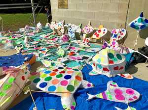 Children take part in lantern making workshop