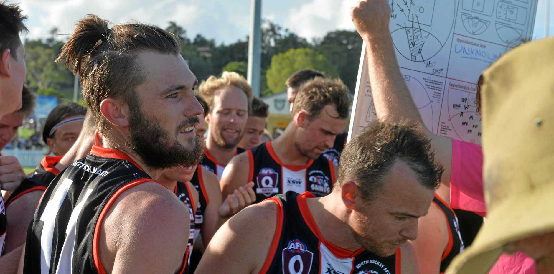 North Mackay Saints are 12 from 12 in the AFL Mackay Allied Pickfords Cup after a big win against Mackay City on Saturday.