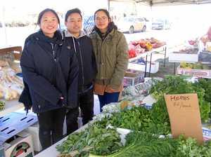 New veggie stand at market