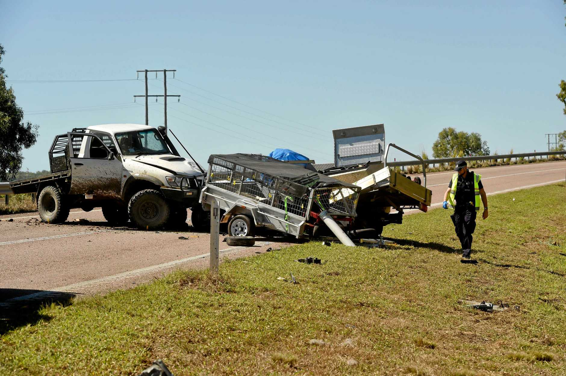 Fatal crash on Bruce Highway at Cape Cleveland, near AIMS turnoff.