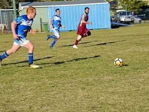 Nanango and Barambah battle it out in men's soccer