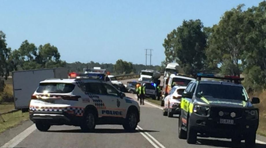 Police have closed the road after a crash just north of the AIMS turn-off on the Bruce Highway, south of Townsville.