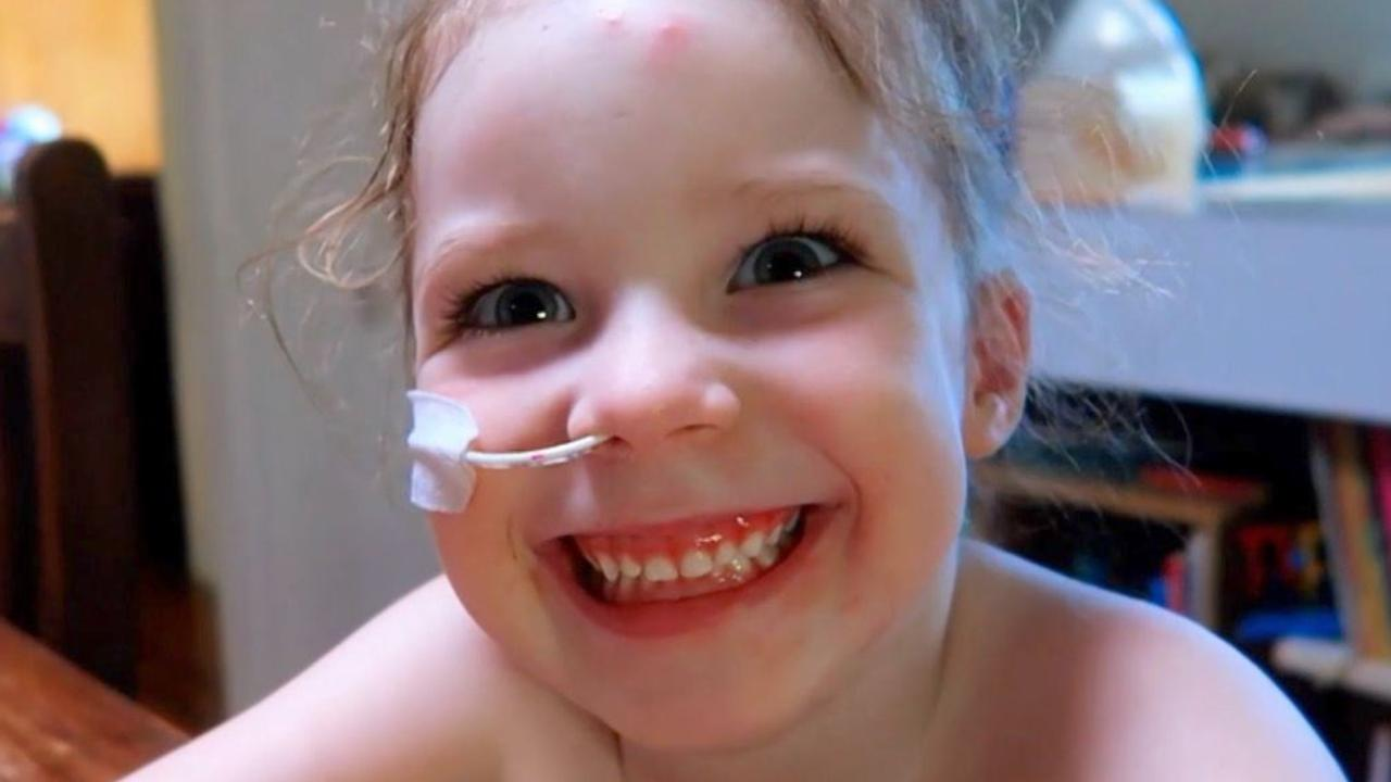 Mia's sepsis was so strong that her heart couldn't pump oxygen to her limbs. Picture: Channel 7
