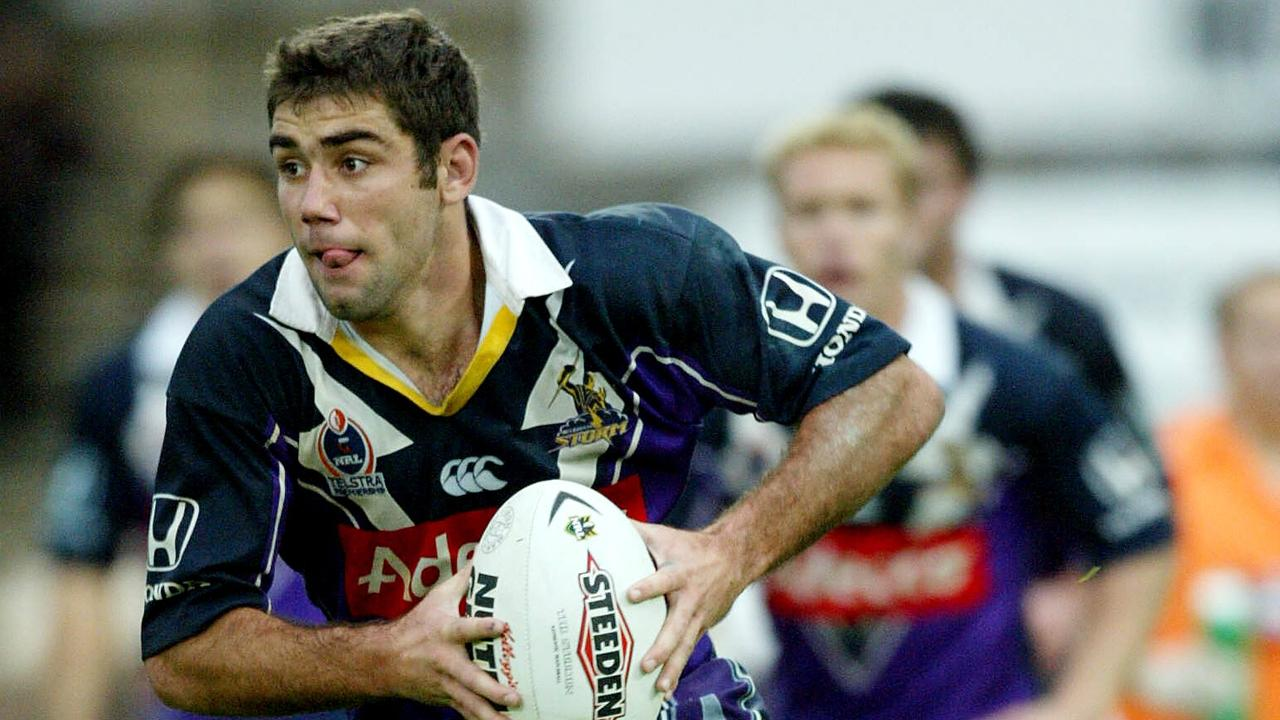 A young Cameron Smith in action for the Storm in 2003.
