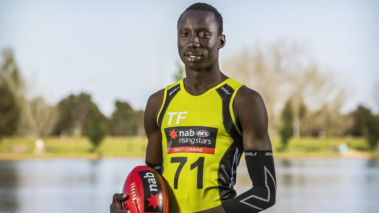 Chol played in the Future Stars game two years ago. Picture: Sarah Matray