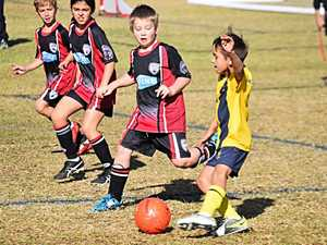 Inter Club and Stanthorpe United juniors face off on