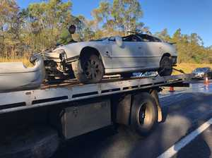 UPDATE: Bruce Hwy re-opened after car roll over