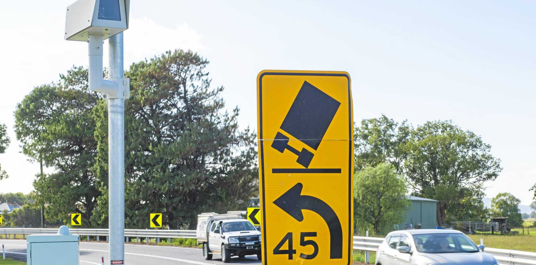 The southbound speed camera at Ulmarra.