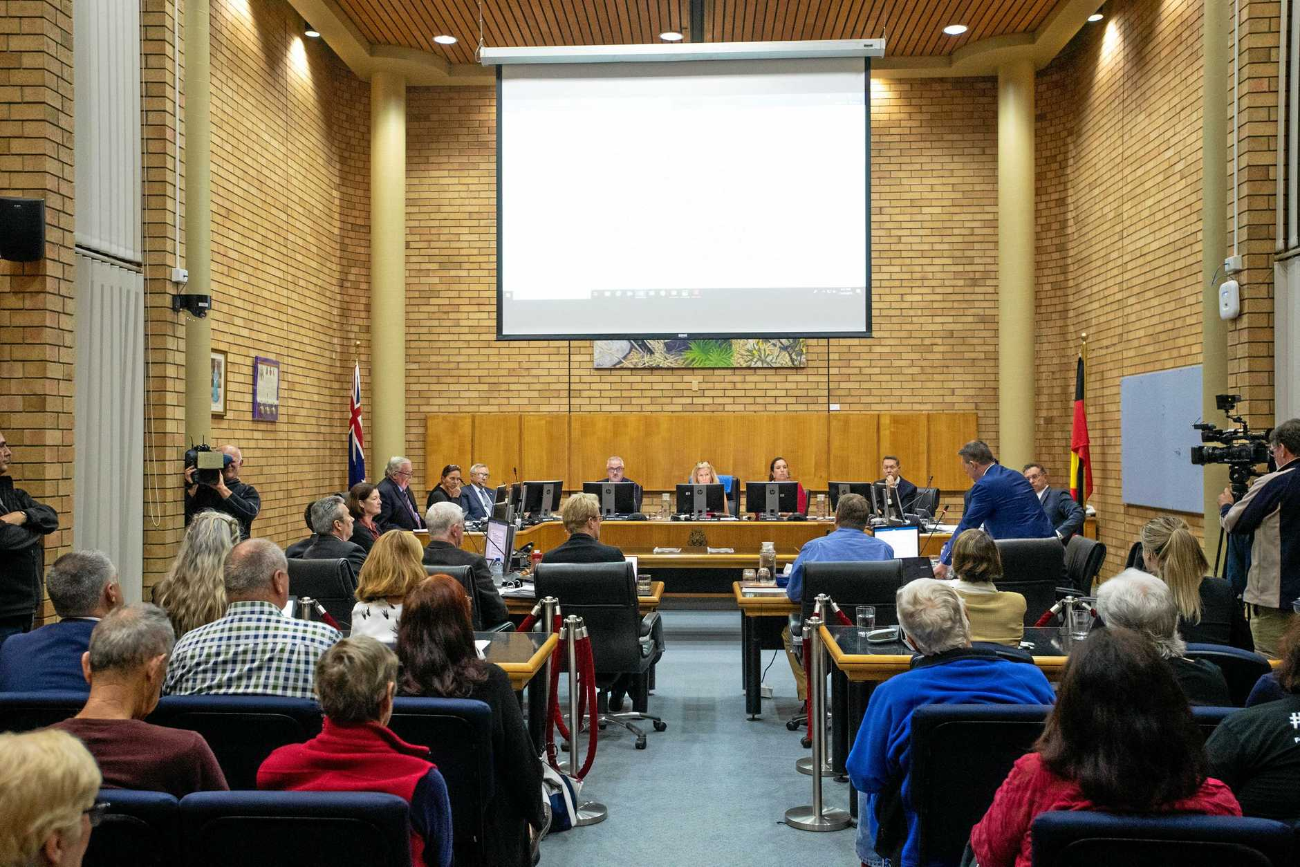 Council Meeting Re Cultural and Civic space development.councillors. Coffs Habour City Council. 11 July 2019