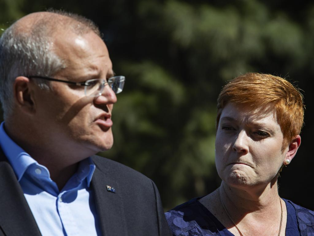 Foreign Affairs Minster Marise Payne, right. Picture: Hollie Adams/The Australian