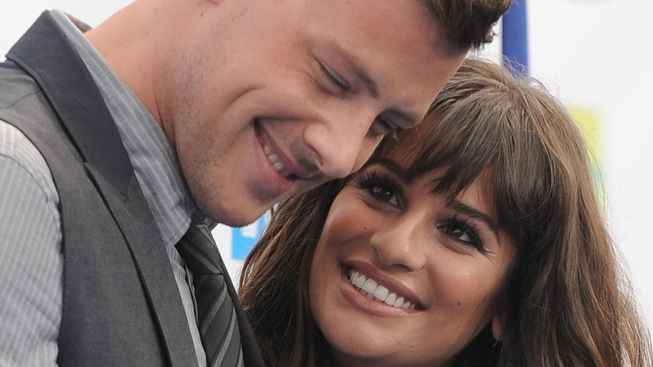 Lea Michele has paid tribute to her former Glee co-star and boyfriend, Cory Monteith, who passed away in 2014. Picture: Jordan Strauss/Invision/AP, File