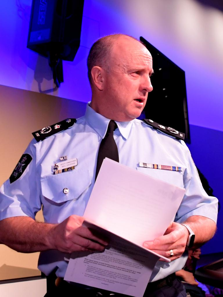 Acting AFP Commissioner Neil Gaughan said the raids were not intended to intimidate. Picture: Getty Images