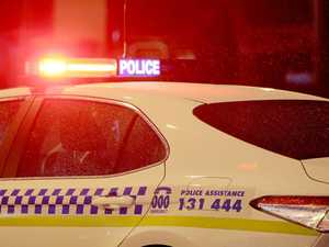 Car hits woman, ute, man allegedly flees