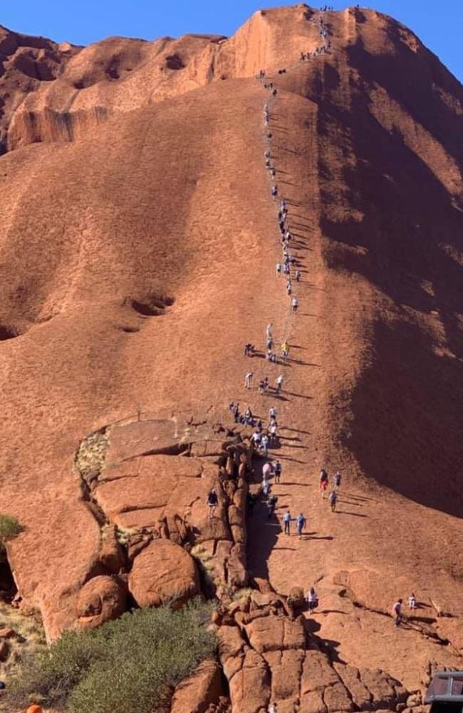 Uluru is getting busier closer to the closure date.
