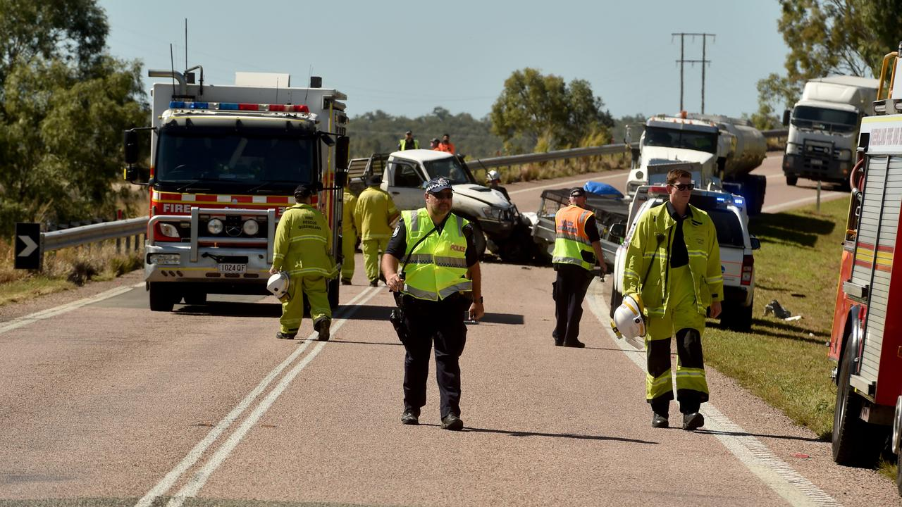 Fatal crash on Bruce Highway at Cape Cleveland, near AIMS turnoff. Picture: Evan Morgan
