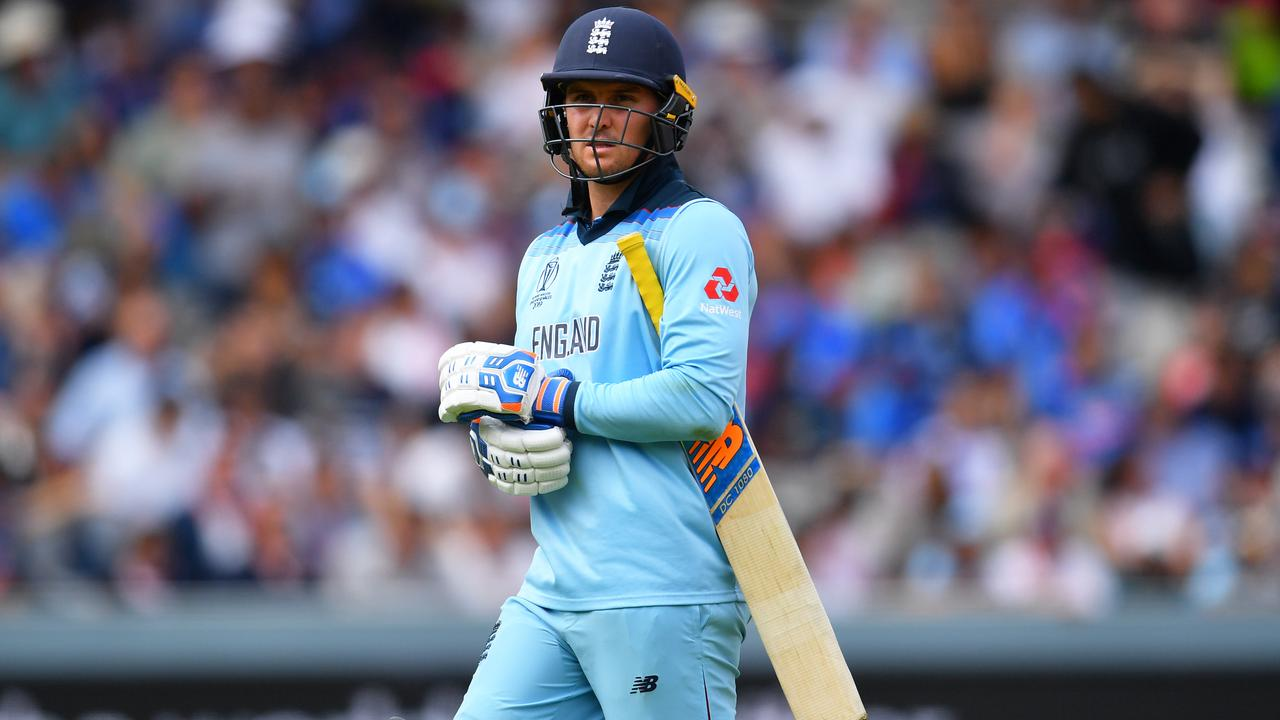 Jason Roy was lucky to survive the first ball of his innings. Picture: Getty