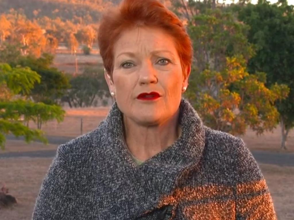 Pauline Hanson addresses the Uluru closure. Picture: Today Show