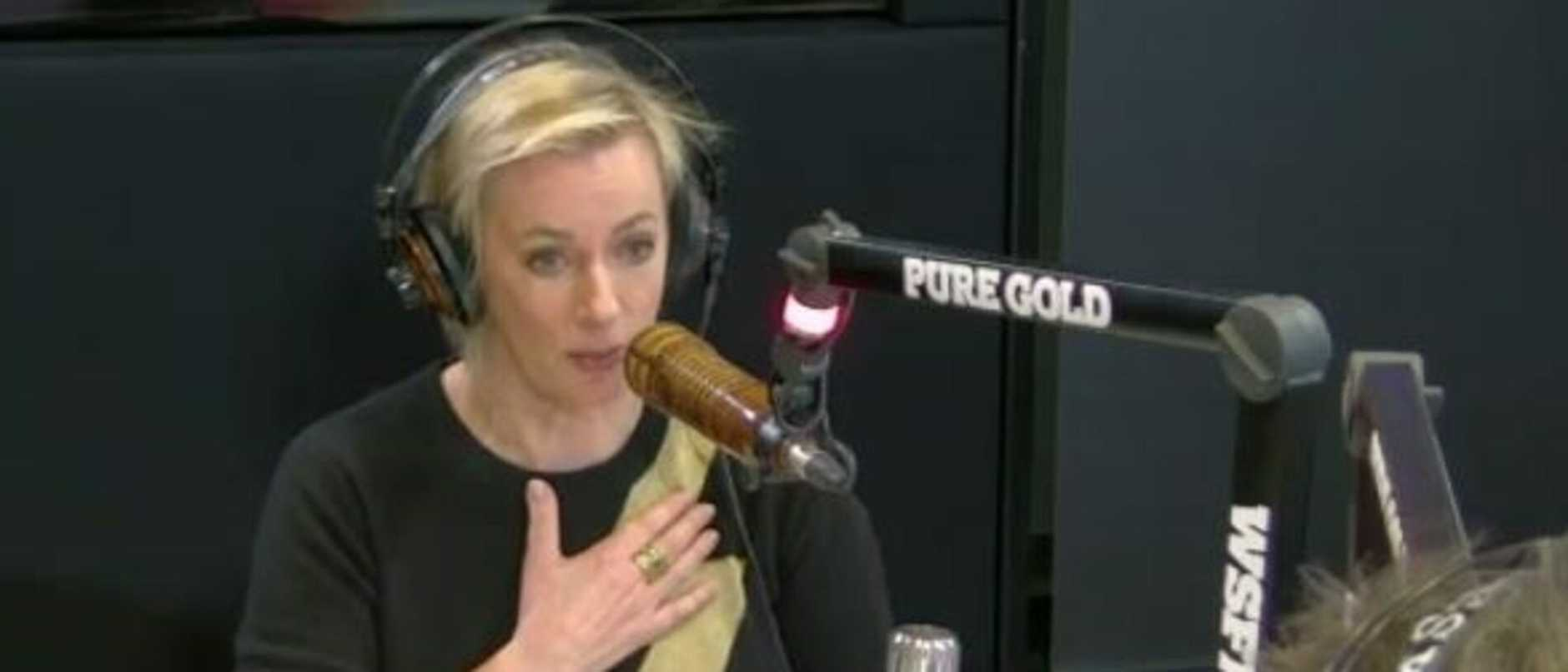 Amanda Keller on radio talking about the Gold Logie lossto Tom Gleeson. Picture: Supplied