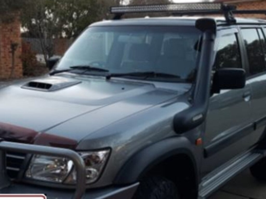 The 2004 silver Nissan Patrol.