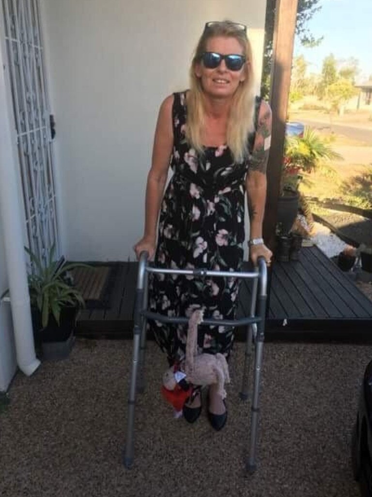 West End resident Sandi Wickman, 52, broke her ribs and both of her legs during a crash on the Bruce Highway in 2017