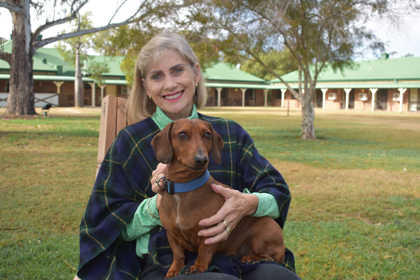 Amanda Weyman-Jones (pictured with Gus), was diagnosed with MS 33 years ago. After battling the disease for so long, Mrs Weyman-Jones is is seeking out life-changing treatment in Russia.