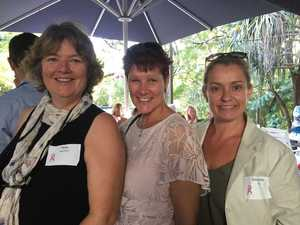 CANCER FUNDRAISER: Peta Marshall, Debbie Strong and