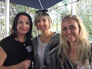 CANCER FUNDRAISER: Sue Ellis, Renne Allan and Maud